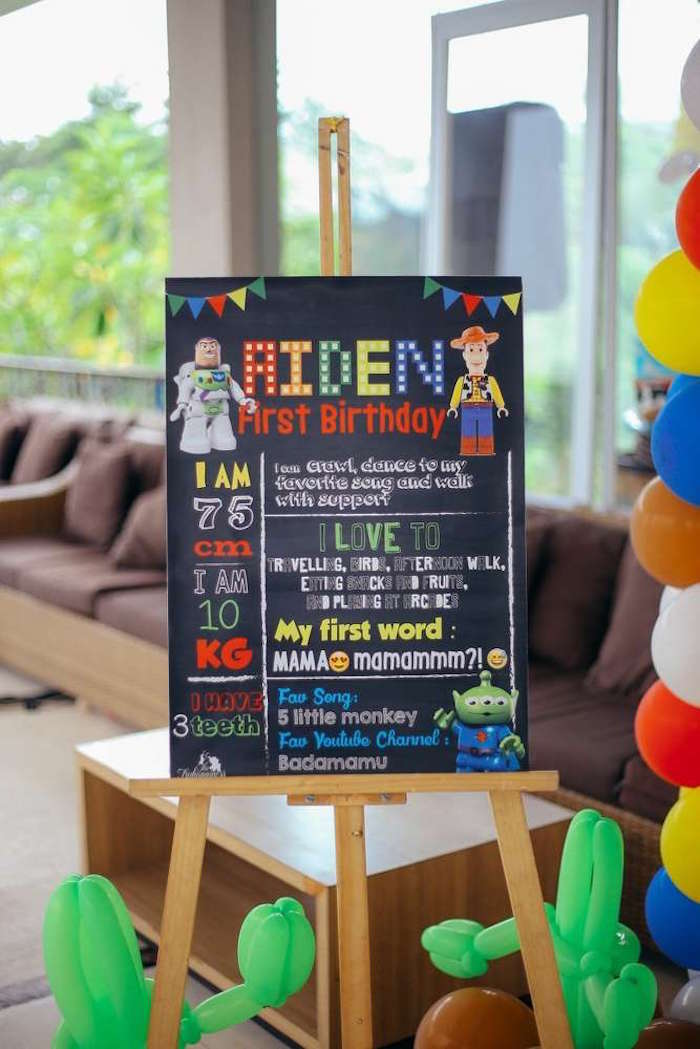 Fact chalkboard from a Toy Story Birthday Party on Kara's Party Ideas | KarasPartyIdeas.com (16)