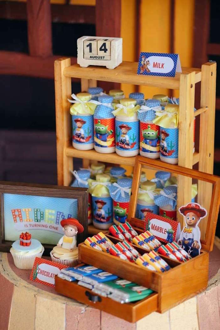 Sweet + drink display from a Toy Story Birthday Party on Kara's Party Ideas | KarasPartyIdeas.com (14)