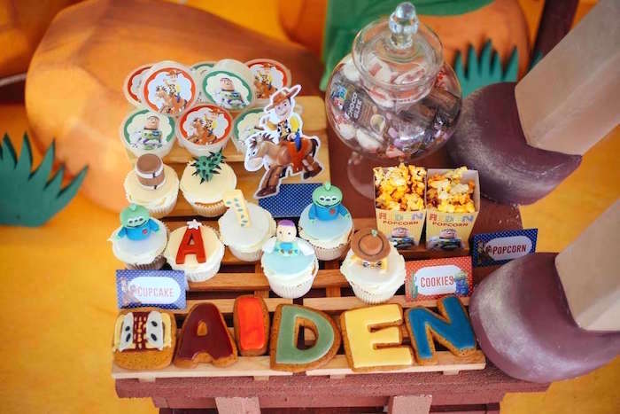 Cookies + cupcakes + snacks from a Toy Story Birthday Party on Kara's Party Ideas | KarasPartyIdeas.com (27)