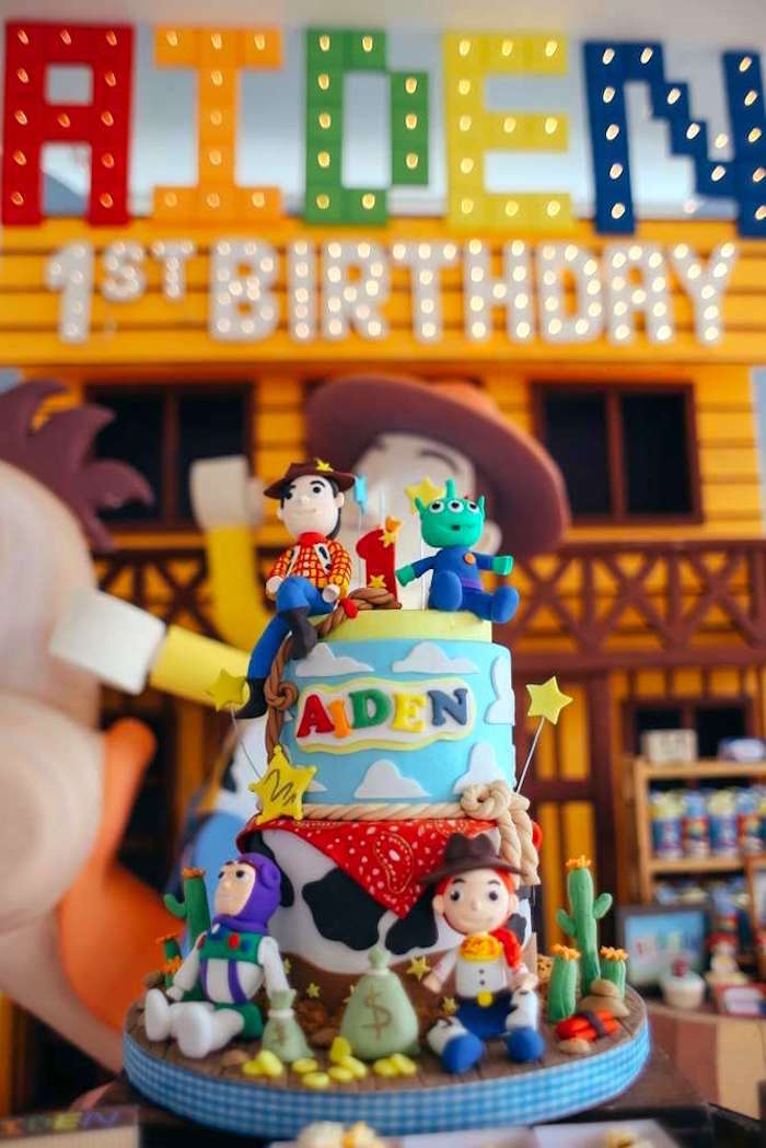 Toy Story Birthday Cake from a Toy Story Birthday Party on Kara's Party Ideas | KarasPartyIdeas.com (8)