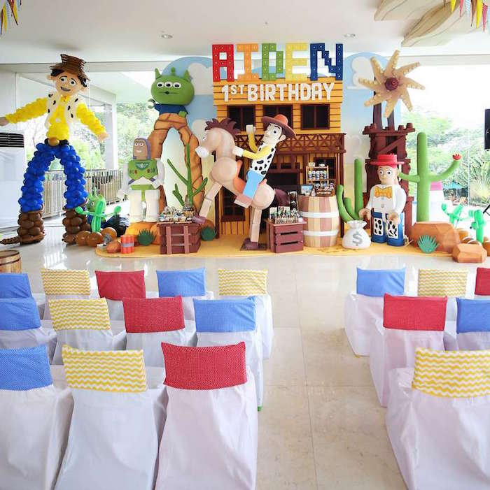 Toy Story Partyscape from a Toy Story Birthday Party on Kara's Party Ideas | KarasPartyIdeas.com (4)