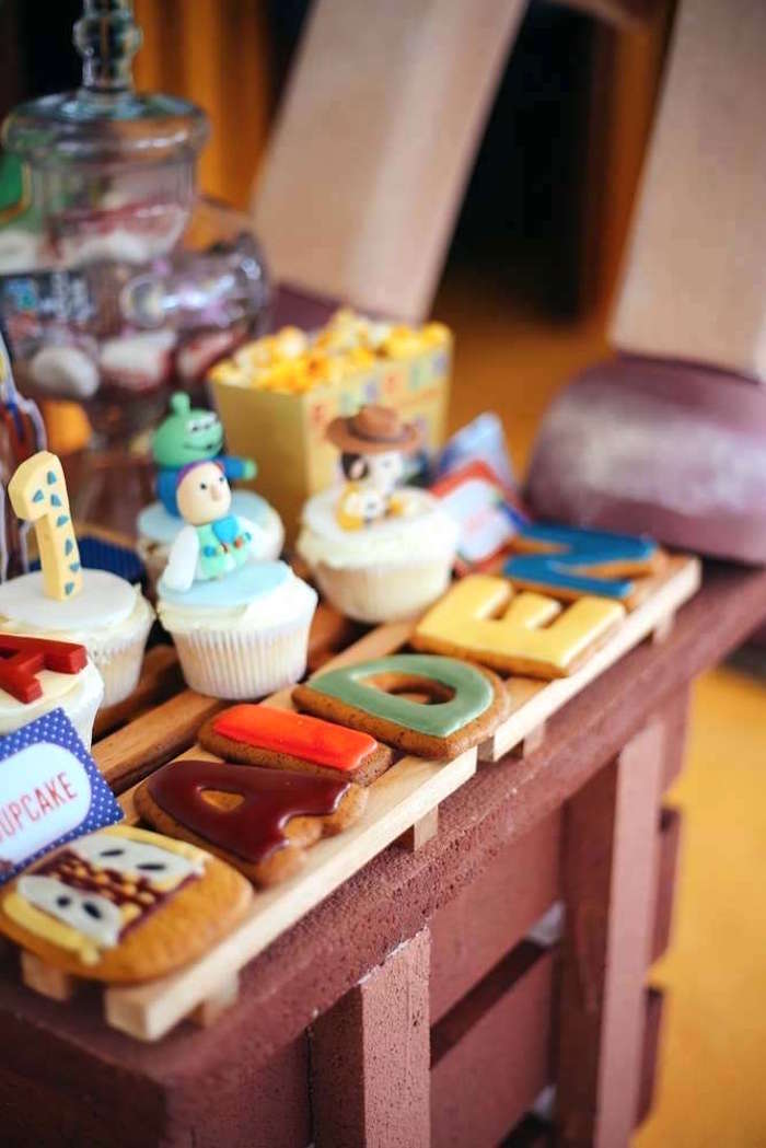 Cupcakes and cookies from a Toy Story Birthday Party on Kara's Party Ideas | KarasPartyIdeas.com (26)
