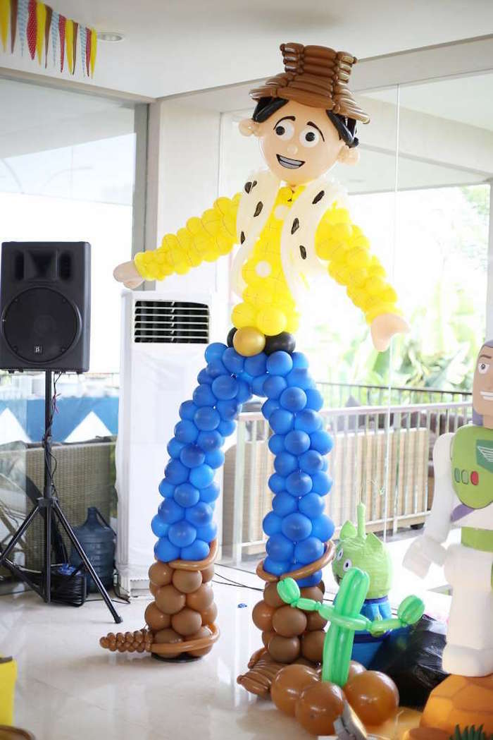 Balloon Woody from a Toy Story Birthday Party on Kara's Party Ideas | KarasPartyIdeas.com (25)