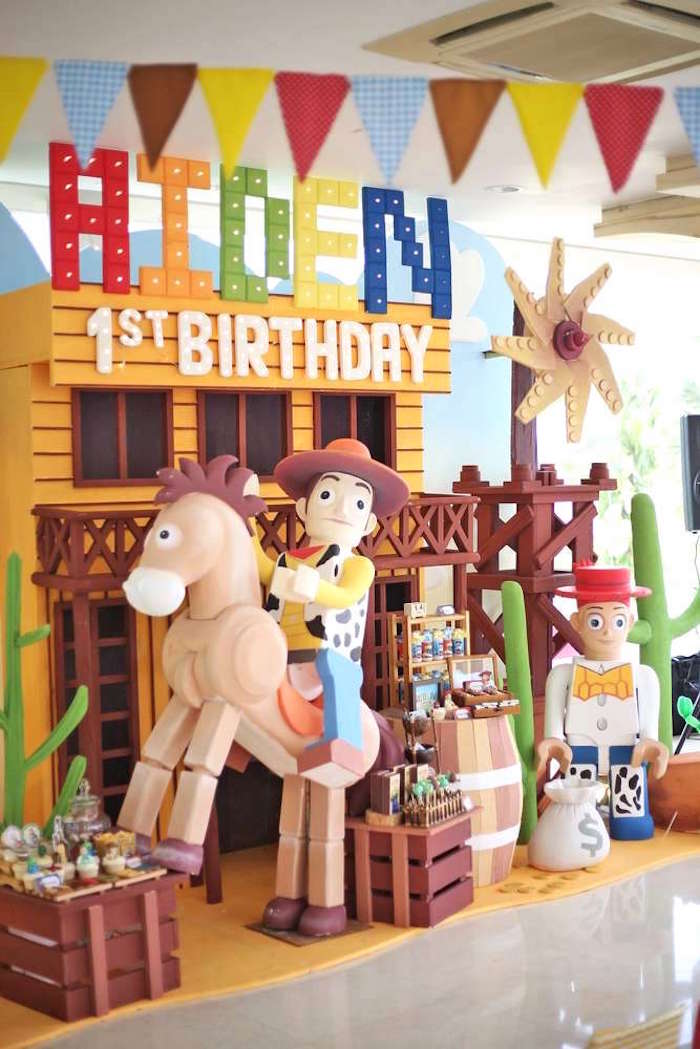 Dessert + party spread from a Toy Story Birthday Party on Kara's Party Ideas | KarasPartyIdeas.com (23)