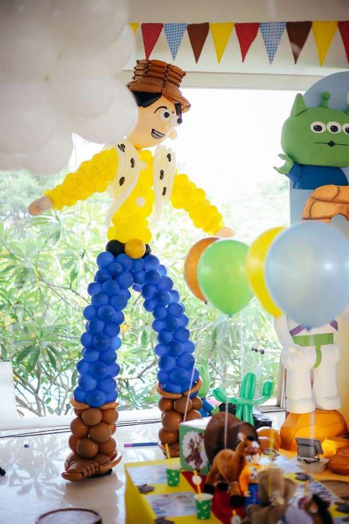 Balloon Woody from a Toy Story Birthday Party on Kara's Party Ideas | KarasPartyIdeas.com (22)