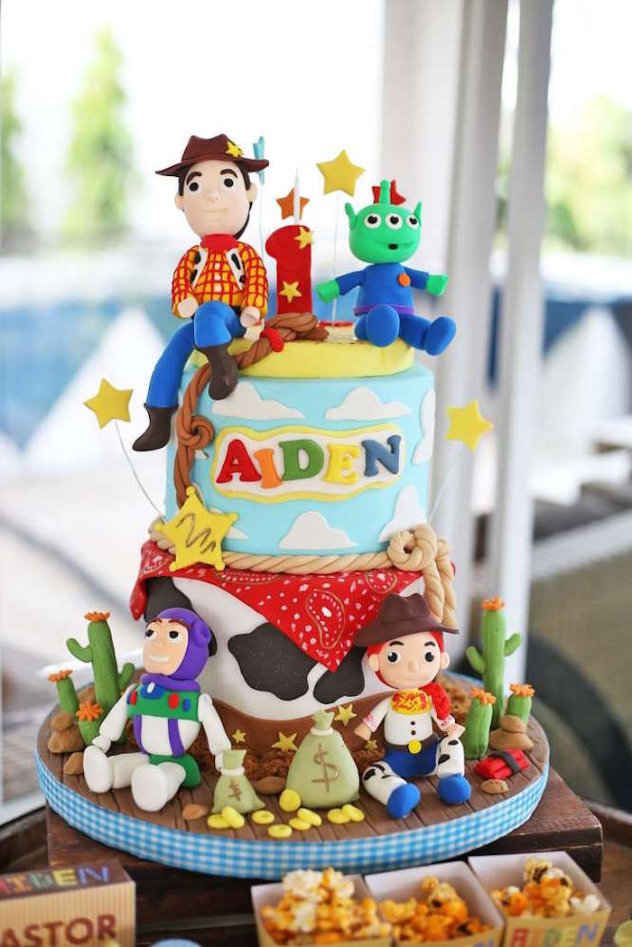 Toy Story Cake from a Toy Story Birthday Party on Kara's Party Ideas | KarasPartyIdeas.com (21)