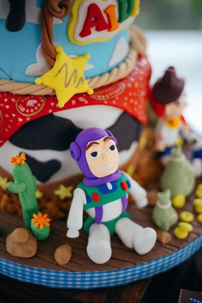 Buzz Lightyear cake detail from a Toy Story Birthday Party on Kara's Party Ideas | KarasPartyIdeas.com (20)