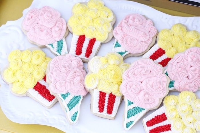 Carnival sugar cookies from a Vintage Carnival Birthday Party on Kara's Party Ideas | KarasPartyIdeas.com (26)
