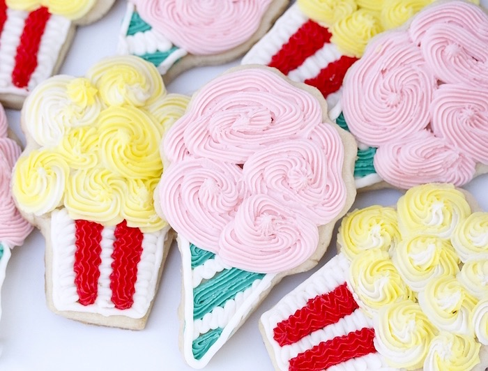 Sugar cookies from a Vintage Carnival Birthday Party on Kara's Party Ideas | KarasPartyIdeas.com (25)