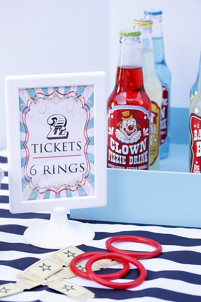 Party sign from a Vintage Carnival Birthday Party on Kara's Party Ideas | KarasPartyIdeas.com (13)
