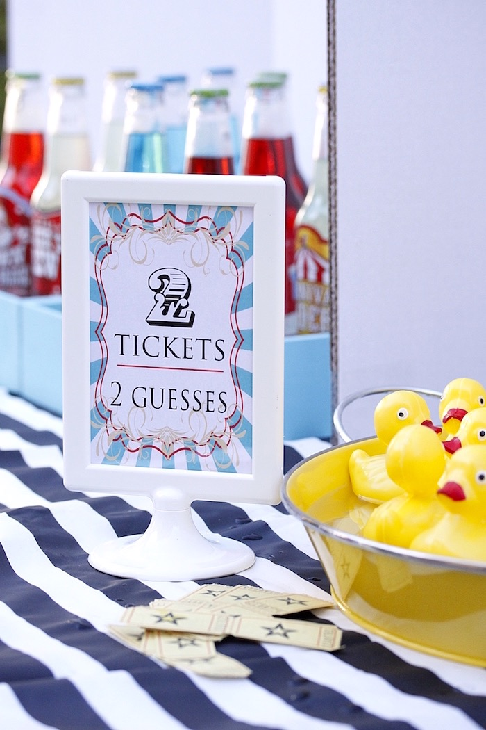 Party signage from a Vintage Carnival Birthday Party on Kara's Party Ideas | KarasPartyIdeas.com (12)