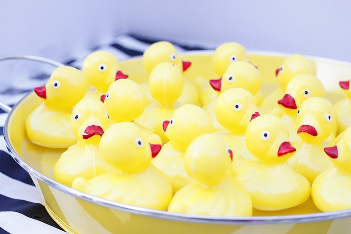 Rubber ducks from a Vintage Carnival Birthday Party on Kara's Party Ideas | KarasPartyIdeas.com (9)