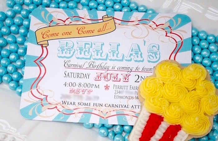 Carnival Party Invitation From A Vintage Birthday On Karas Ideas
