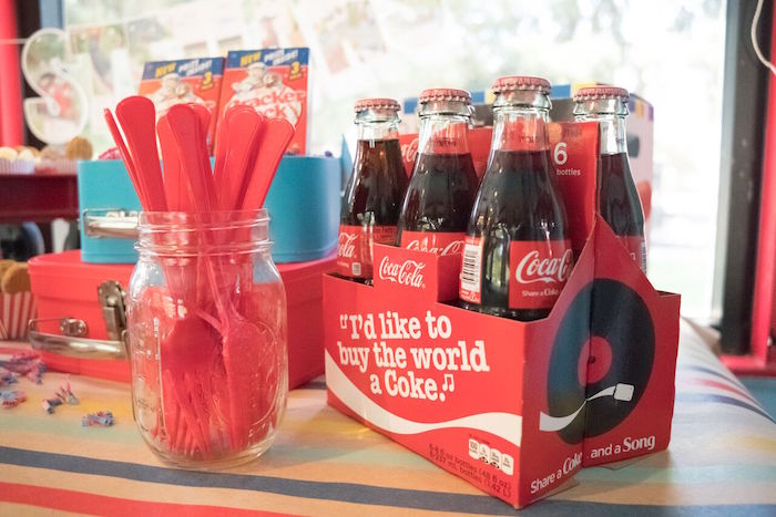 Soda pop bottles from a Vintage Little Golden Trains Birthday Party on Kara's Party Ideas | KarasPartyIdeas.com (22)