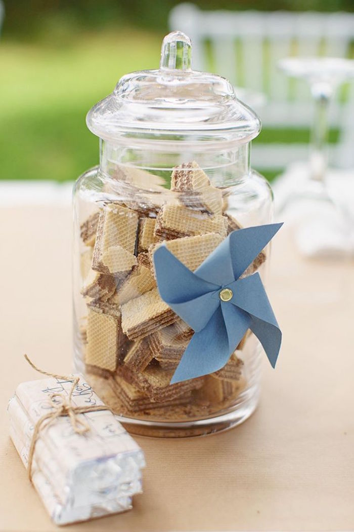 Wafers in a jar from a Vintage Travel Party on Kara's Party Ideas | KarasPartyIdeas.com (37)
