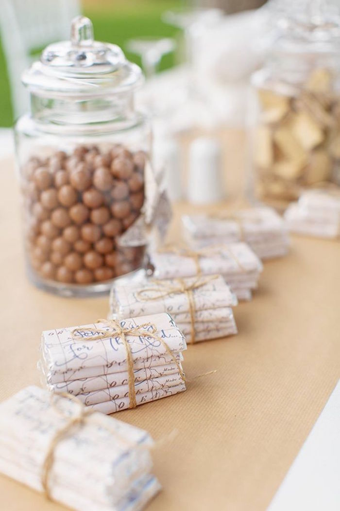 Chocolate bars with map print labels tied with twine from a Vintage Travel Party on Kara's Party Ideas | KarasPartyIdeas.com (32)