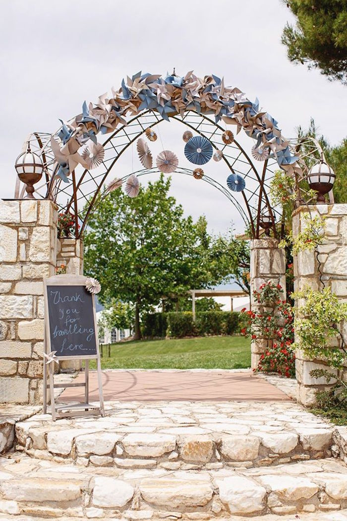 Entrance to a Vintage Travel Party on Kara's Party Ideas | KarasPartyIdeas.com (19)