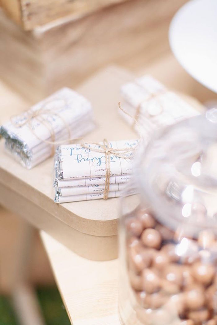 Chocolate bars tied with twine from a Vintage Travel Party on Kara's Party Ideas | KarasPartyIdeas.com (46)