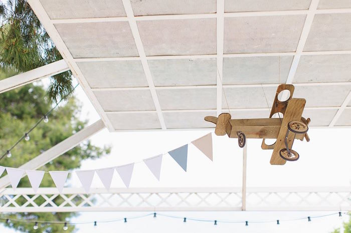 Overhead decor + bunting from a Vintage Travel Party on Kara's Party Ideas | KarasPartyIdeas.com (44)