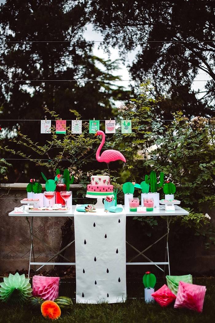 Watermelon Birthday Party on Kara's Party Ideas | KarasPartyIdeas.com (18)