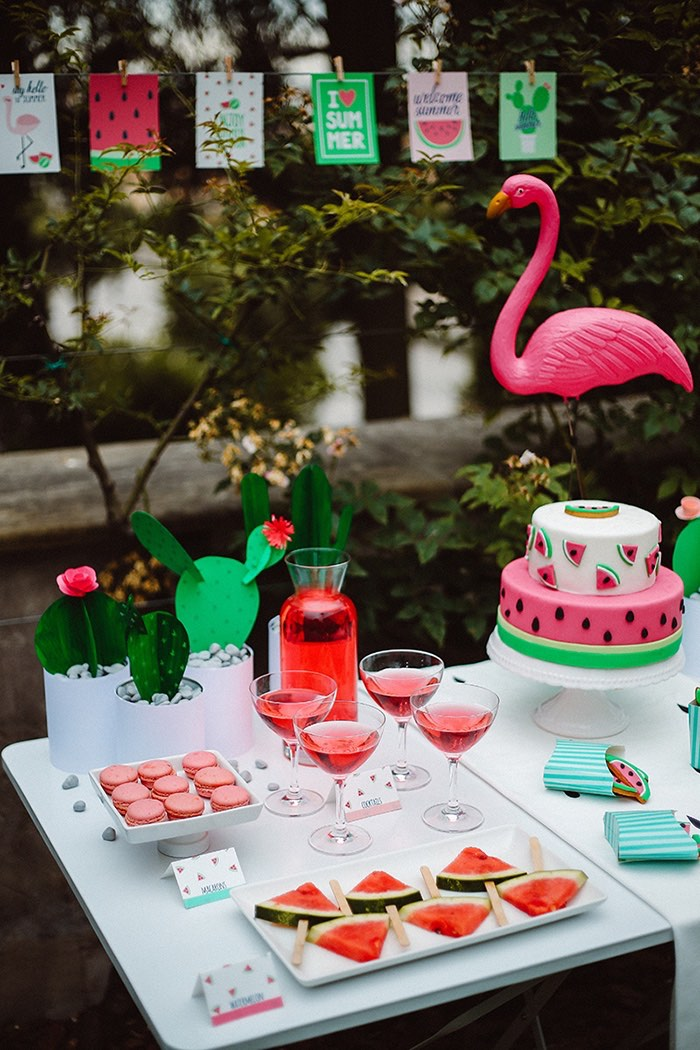 Desserts, drinks and decor from a Watermelon Birthday Party on Kara's Party Ideas | KarasPartyIdeas.com (16)