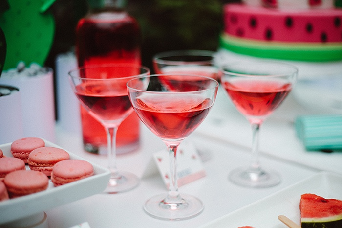 Red drinks from a Watermelon Birthday Party on Kara's Party Ideas | KarasPartyIdeas.com (15)
