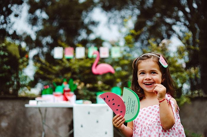 Watermelon slice invitation from a Watermelon Birthday Party on Kara's Party Ideas | KarasPartyIdeas.com (13)