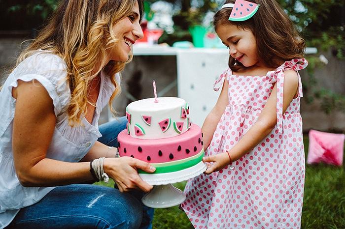 Watermelon slice headband from a Watermelon Birthday Party on Kara's Party Ideas | KarasPartyIdeas.com (11)