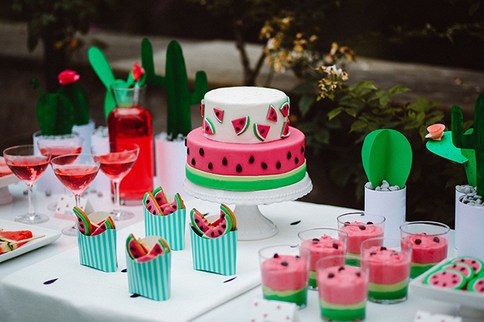 Karas Party Ideas Watermelon Birthday