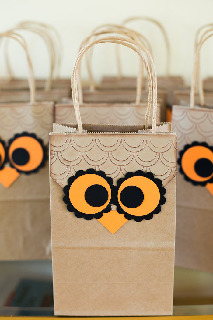 Owl Themed First Birthday Cake