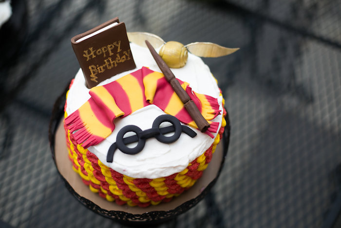 Harry Potter Cake From A Wizarding World Of Harry Potter Birthday Party On Karas Party Ideas