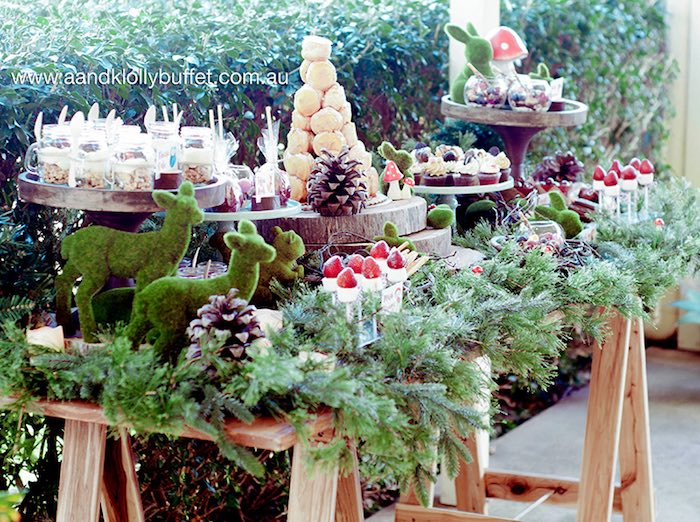Gorgeous woodland sweet table from a Woodland Forest Baby Shower via Kara's Party Ideas | KarasPartyIdeas.com (8)