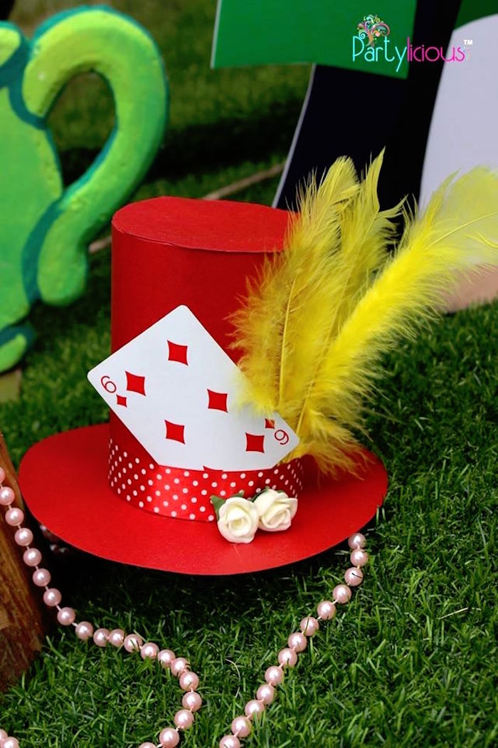 Mad Hatter hat from an Alice in Wonderland Birthday Tea Party on Kara's Party Ideas | KarasPartyIdeas.com (29)