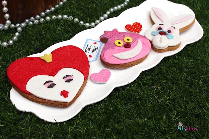 Alice in Wonderland cookies from an Alice in Wonderland Birthday Tea Party on Kara's Party Ideas | KarasPartyIdeas.com (22)