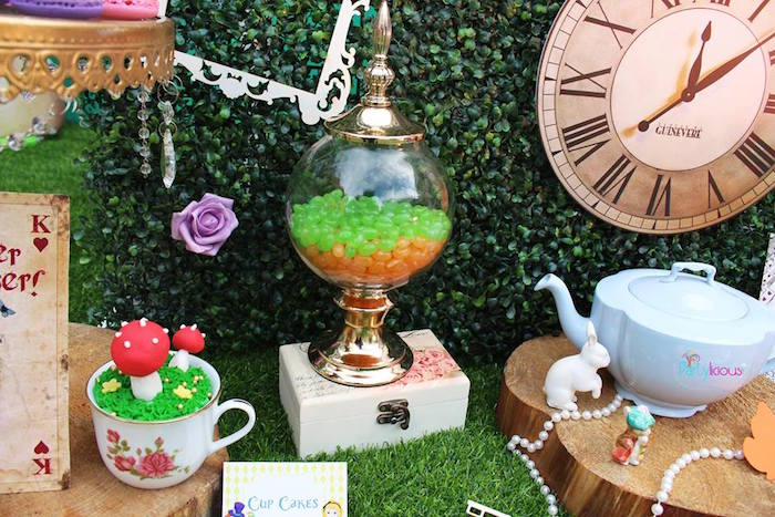 Details + decor from an Alice in Wonderland Birthday Tea Party on Kara's Party Ideas | KarasPartyIdeas.com (17)