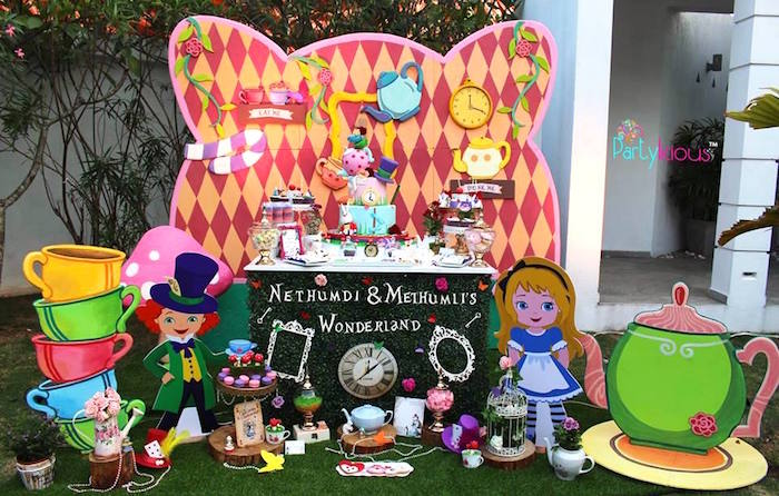 Alice in Wonderland Birthday Tea Party on Kara's Party Ideas | KarasPartyIdeas.com (11)