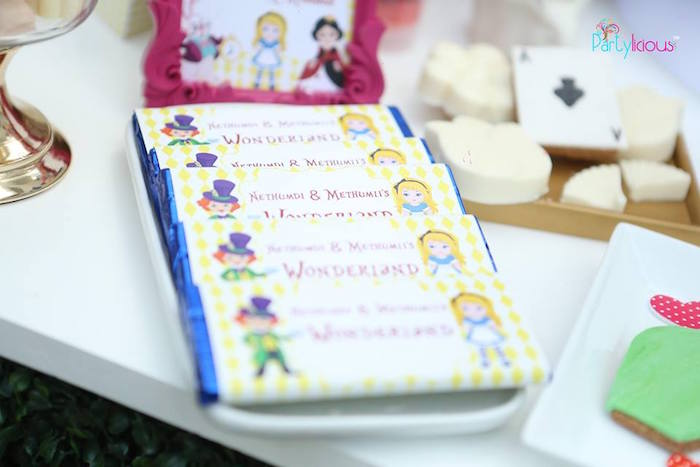 ideas for labels karas party ideas mad hatter alice chocolate bar labels from an