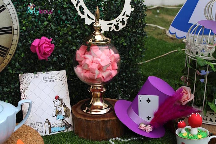 Details & decor from an Alice in Wonderland Birthday Tea Party on Kara's Party Ideas | KarasPartyIdeas.com (6)