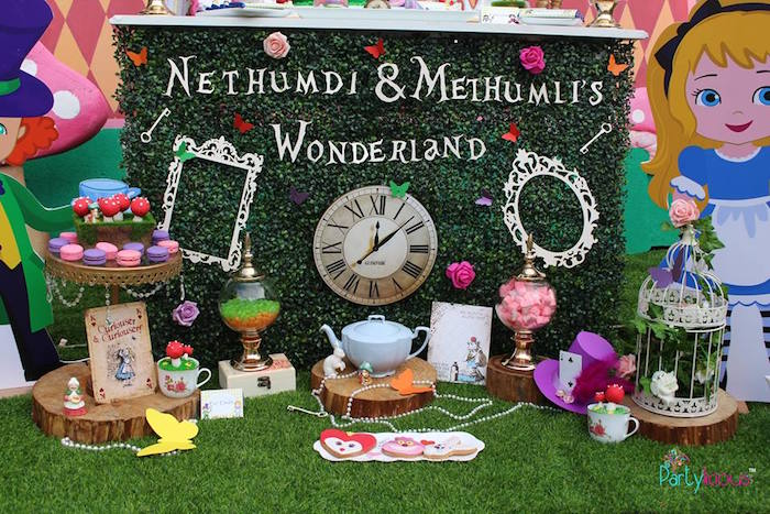 Alice in Wonderland Birthday Tea Party on Kara's Party Ideas | KarasPartyIdeas.com (5)