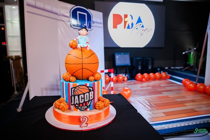 Basketball Cake From An All Star Birthday Party On Kara S Ideas Karaspartyideas