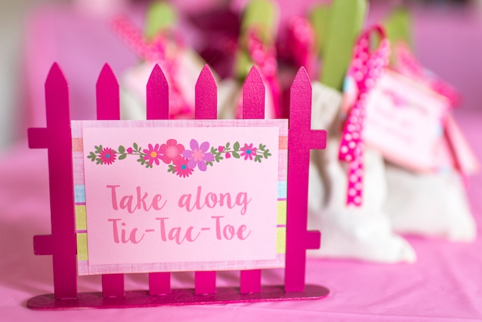 Picket fence label + sign from an American Girl Doll WellieWishers Garden Birthday Party on Kara's Party Ideas | KarasPartyIdeas.com (20)