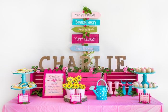 American Girl Doll WellieWishers Garden Birthday Party on Kara's Party Ideas   KarasPartyIdeas.com (7)