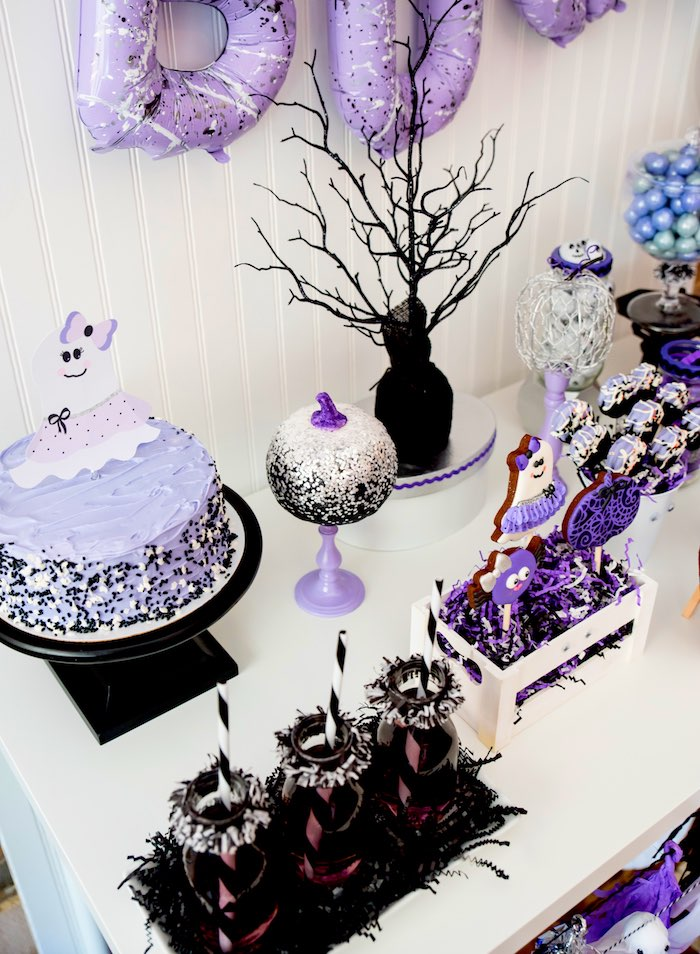 Cakescape from a Boo tiful Ball Halloween Ghouls Night Out Party via Kara's Party Ideas | KarasPartyIdeas.com (34)