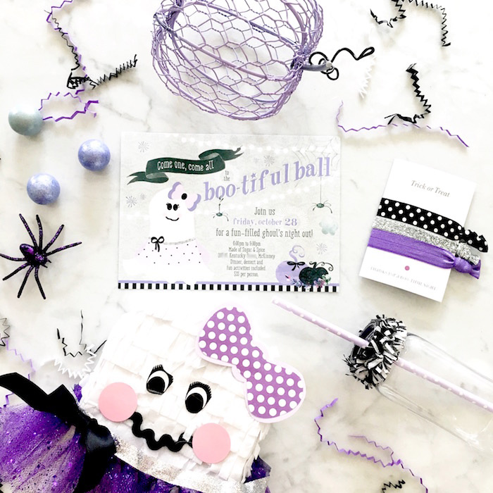 Invitation from a Boo tiful Ball Halloween Ghouls Night Out Party via Kara's Party Ideas | KarasPartyIdeas.com (9)
