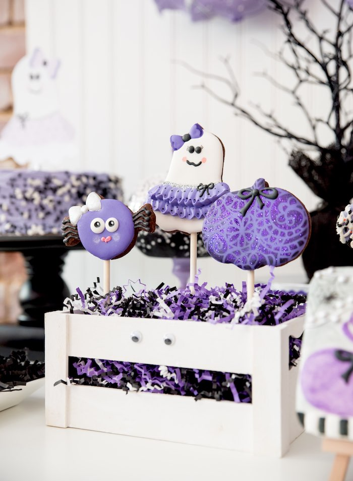 Halloween ghoul pops from a Boo tiful Ball Halloween Ghouls Night Out Party via Kara's Party Ideas | KarasPartyIdeas.com (38)