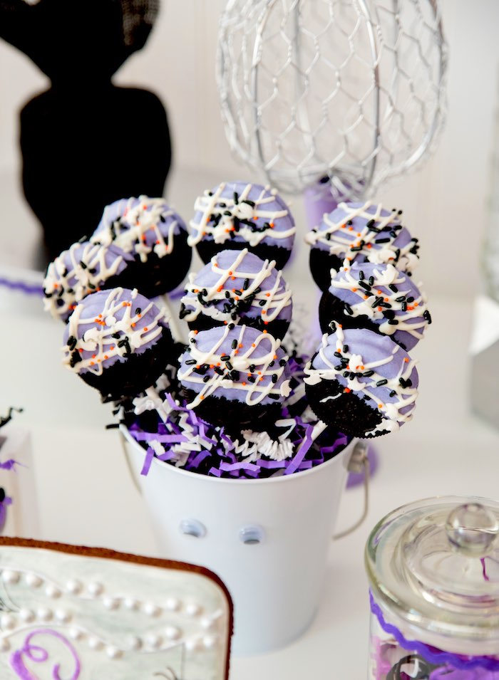 Oreo pops from a Boo tiful Ball Halloween Ghouls Night Out Party via Kara's Party Ideas | KarasPartyIdeas.com (37)