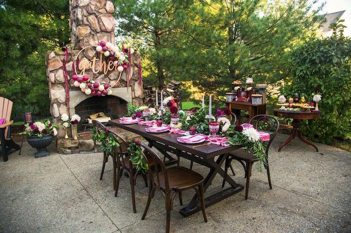 Kara S Party Ideas Bordeaux And Blush Friendsgiving Dinner Spring Inspiration