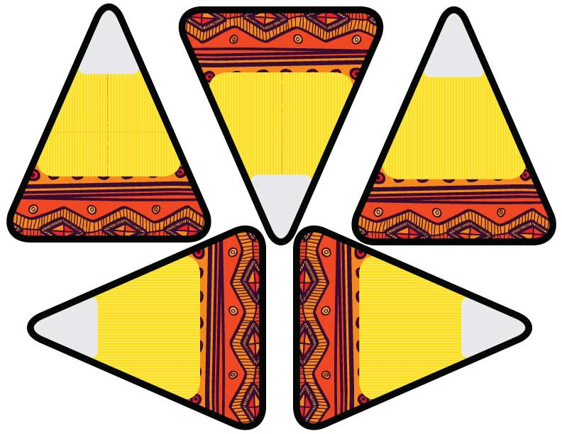 Free Aztec Candy Corn Printables Candy Corn Banner via Kara's Party Ideas