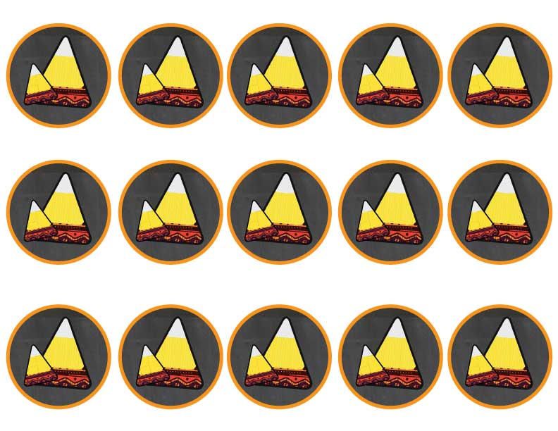 Free Aztec Candy Corn Printables Candy Corn Cupcake Toppers via Kara's Party Ideas