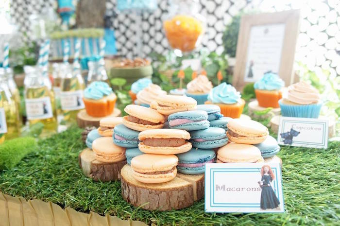 Macarons from a Disney's Brave Themed Birthday Party on Kara's Party Ideas | KarasPartyIdeas.com (13)